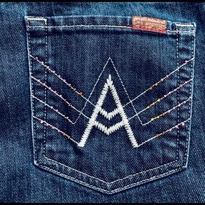 7 For All Mankind Jeans - 💙 7 For All Mankind A Pocket Size 30 Crystals